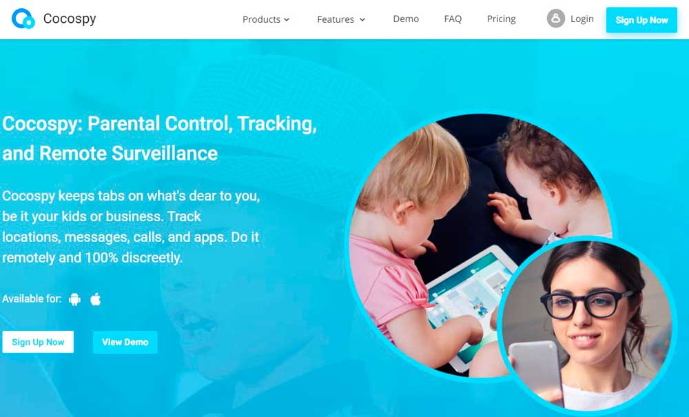 Cocospy to monitor kids
